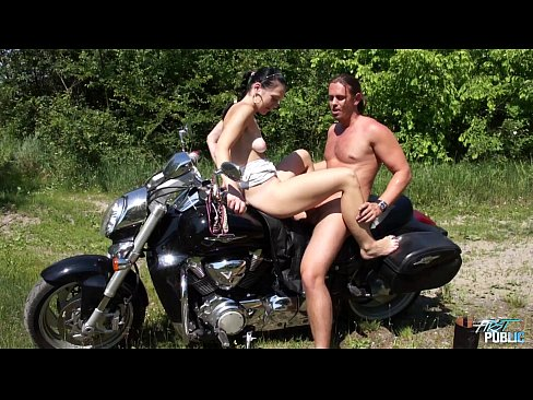 Girls fucking on a motorcycle